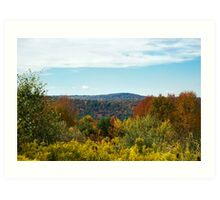 Fall in the Country Hilltop Landscape Art Art Print
