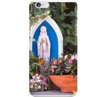 Virgin Mary With Potted Flowers iPhone Case/Skin