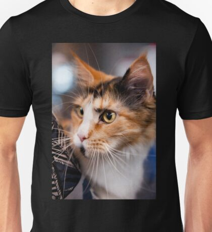 Red hair cat portrait Unisex T-Shirt