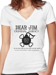 Dear Jim Women's Fitted V-Neck T-Shirt