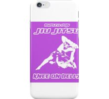 Brazilian Jiu Jitsu Knee On Belly Purple  iPhone Case/Skin