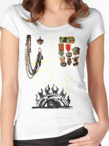 IMMORTAN JOE CHEST ARMOR  HALLOWEEN COSTUME MAD MAX Women's Fitted Scoop T-Shirt