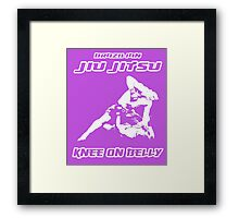Brazilian Jiu Jitsu Knee On Belly Purple  Framed Print