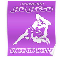 Brazilian Jiu Jitsu Knee On Belly Purple  Poster