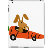 Hilarious Bunny Rabbit Driving Carrot Car iPad Case/Skin