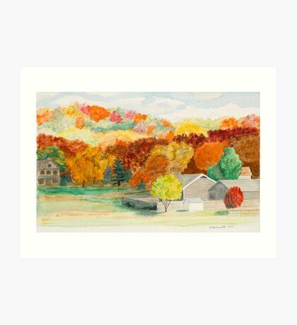 Fall Colors in Rural Arkansas Art Print