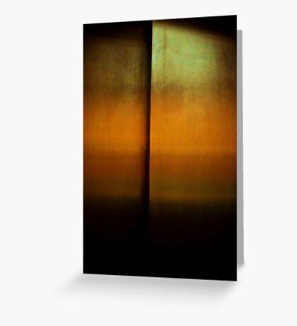 if rothko made elevator doors - earth Greeting Card