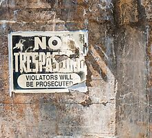 No Trespassing by Gary Paakkonen