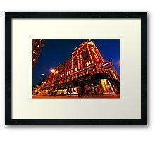 London Harrods Luxury Lights Framed Print