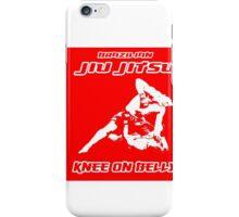 Brazilian Jiu Jitsu Knee On Belly Red  iPhone Case/Skin