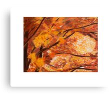 Colorful Oak Tree in Fall Canvas Print
