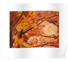 Colorful Oak Tree in Fall Poster