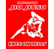 Brazilian Jiu Jitsu Knee On Belly Red  Photographic Print