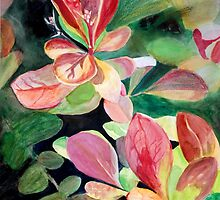 Red and Green Leaves by Teddie McConnell