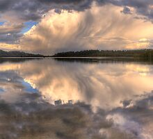 Sunset Abstract - Narrabeen Lakes, Sydney Australia - The HDR Experience by Philip Johnson