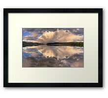 Sunset Abstract - Narrabeen Lakes, Sydney Australia - The HDR Experience Framed Print