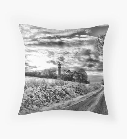 Snow tower Throw Pillow