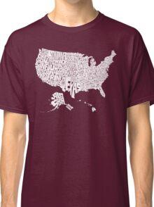 USA States White Classic T-Shirt