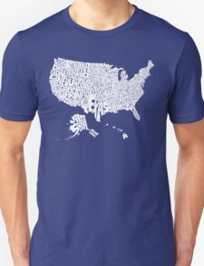 USA States White T-Shirt