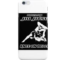 Brazilian Jiu Jitsu Knee On Belly Black iPhone Case/Skin