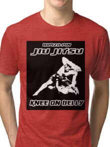 Brazilian Jiu Jitsu Knee On Belly Black Tri-blend T-Shirt