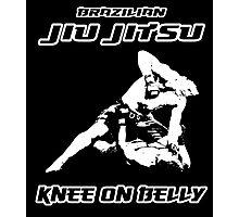 Brazilian Jiu Jitsu Knee On Belly Black Photographic Print