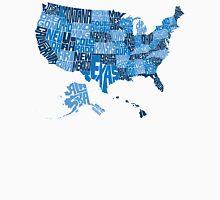 USA States Blue Unisex T-Shirt