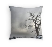 Winter Tree Landscape Throw Pillow