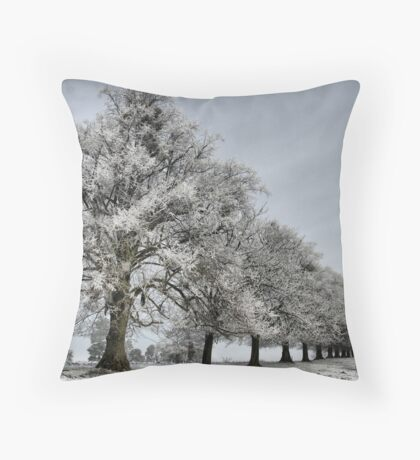 Chestnut Lines Throw Pillow