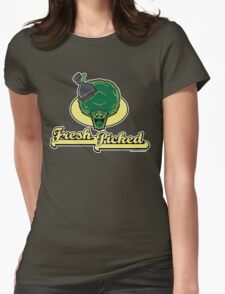 Fresh Picked Broccoli Womens Fitted T-Shirt