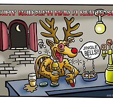 RUDOLPH by NHR CARTOONS .