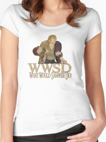 WWSD - What Would Samwise Do? Women's Fitted Scoop T-Shirt