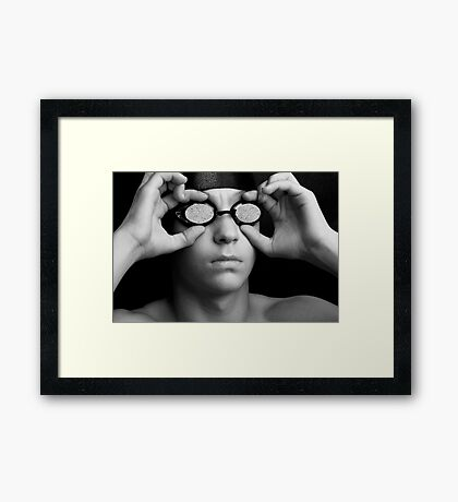 Swimmer in Thought Framed Print