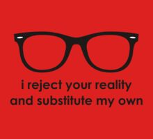 i reject your reality and substitute my own - Blue and Black Line Kids Clothes