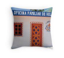 """Oficina Familar""  Holbox Island Throw Pillow"