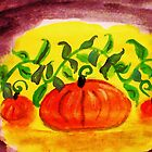 Happy Thanksgiving, watercolor by Anna  Lewis