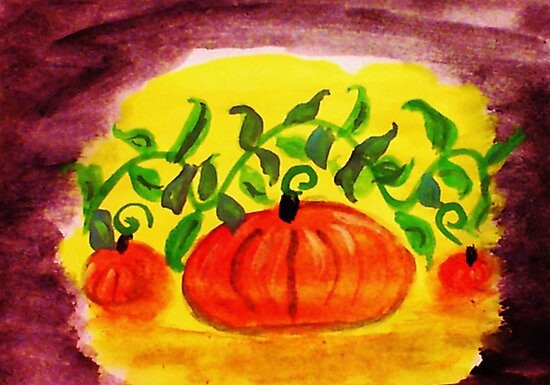 Happy Thanksgiving, watercolor by Anna  Lewis, blind artist