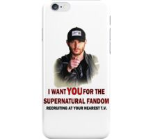 I want YOU for the spn fandom iPhone Case/Skin