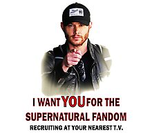 I want YOU for the spn fandom Photographic Print
