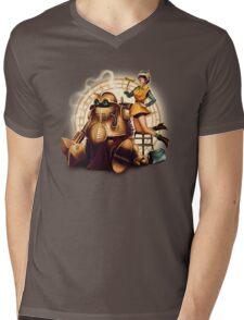 Lucca & Robo Mens V-Neck T-Shirt