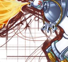 Street Art Fighter 2- Yoga Paint! Sticker