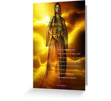 hopi prophecy Greeting Card