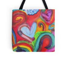 Mixed Media Love Tote Bag