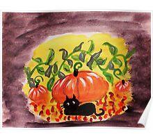 Happy Halloween, watercolor Poster