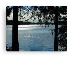 Sparkles On Willow Beach Lake Canvas Print