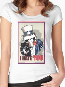 Pissed OFF Panda Uncle Sam Women's Fitted Scoop T-Shirt