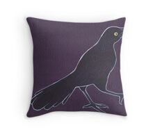 Grackle Throw Pillow