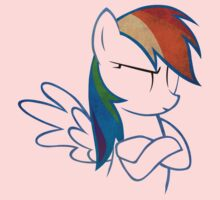 RainbowDash: Not amused Outline One Piece - Long Sleeve