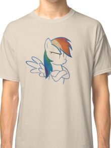 RainbowDash: Not amused Outline Classic T-Shirt