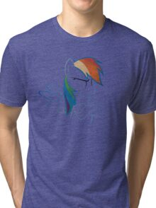 RainbowDash: Not amused Outline Tri-blend T-Shirt